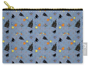 Scaredy Cat - Blue Pattern - Carry-All Pouch