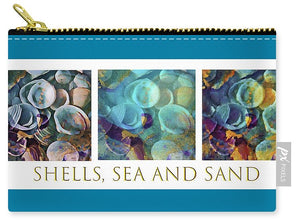 Shells, Sea and Sand Triptych - Carry-All Pouch