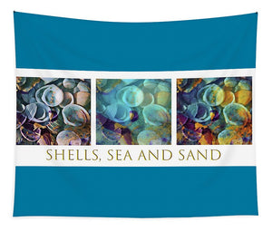 Shells, Sea and Sand Triptych - Tapestry