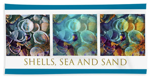 Shells, Sea and Sand Triptych - Beach Towel
