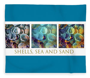 Shells, Sea and Sand Triptych - Blanket