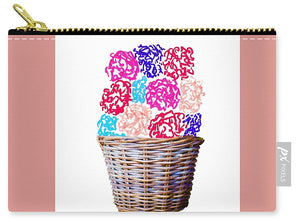 Spring Basket - Carnations - Carry-All Pouch