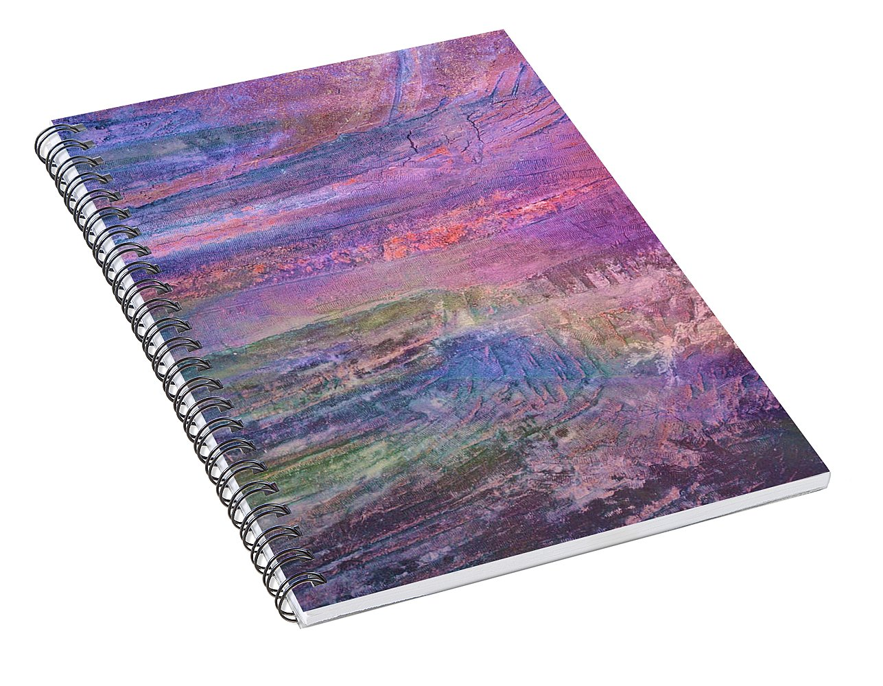Sunset on the Jetty - Spiral Notebook