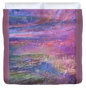 Sunset on the Jetty - Duvet Cover