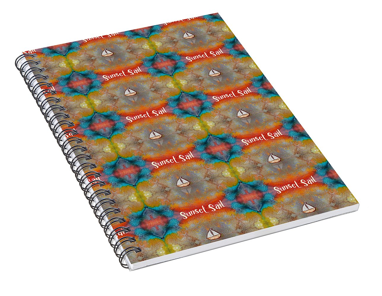 Sunset Sail Pattern - Spiral Notebook