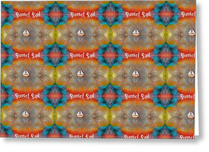 Sunset Sail Pattern - Greeting Card