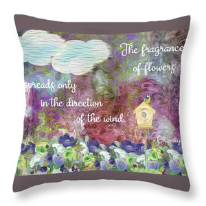 The Fragrance of Flowers - Throw Pillow