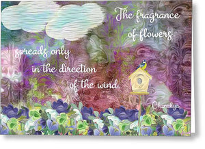 The Fragrance of Flowers - Greeting Card