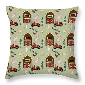 This Little Piggy Pattern - Throw Pillow