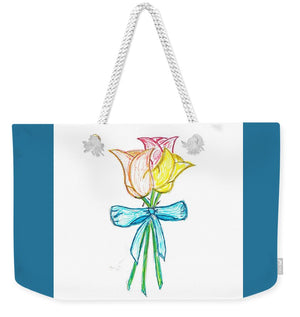 Three Rose Bouquet - Weekender Tote Bag