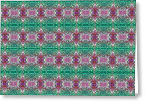 Tropical Passion Fruit Pattern - Greeting Card