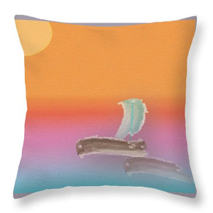 Unmanned Boat - Throw Pillow