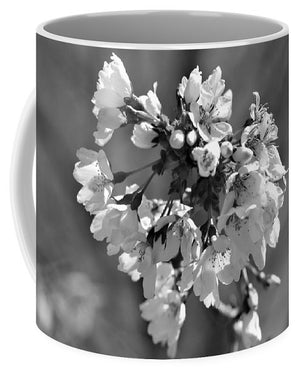 Weeping Cherry Blossom - Black and White - Mug