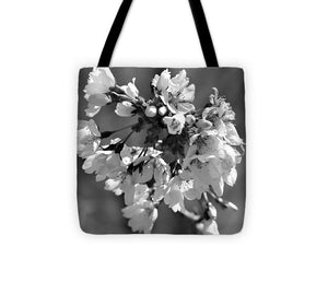 Weeping Cherry Blossom - Black and White - Tote Bag