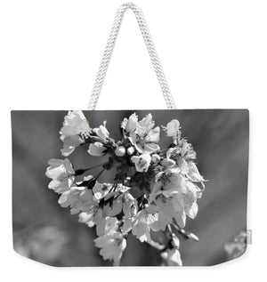 Weeping Cherry Blossom - Black and White - Weekender Tote Bag