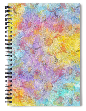 White Chamomile Flowers - Spiral Notebook