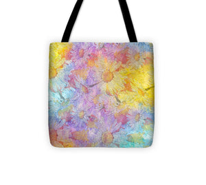 White Chamomile Flowers - Tote Bag