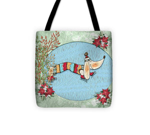 Winter Skate - Dog - Tote Bag