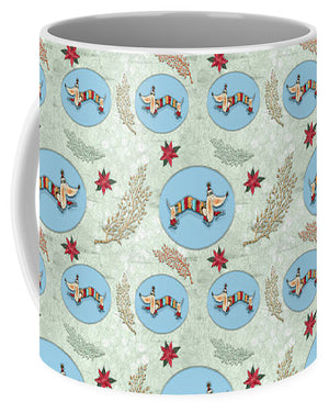 Winter Skate - Dog Pattern - Mug