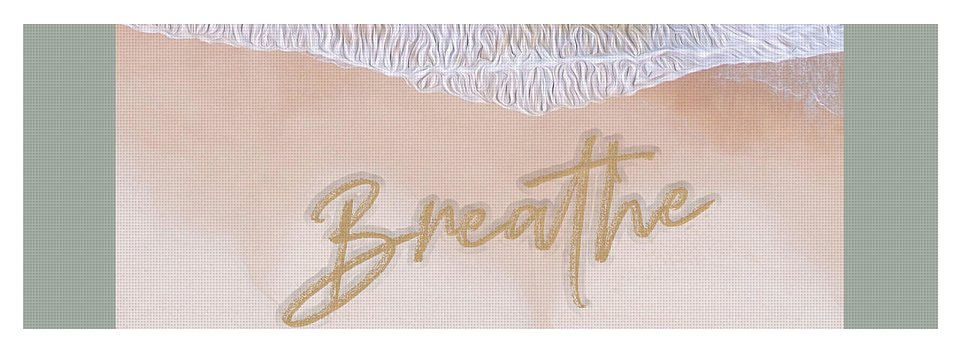 Writing in the Sand - Breathe - Yoga Mat