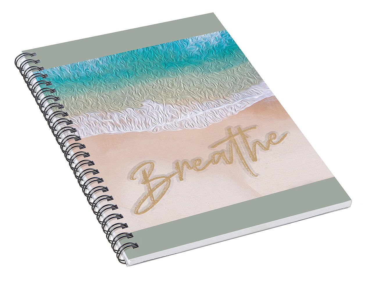 Writing in the Sand - Breathe - Spiral Notebook