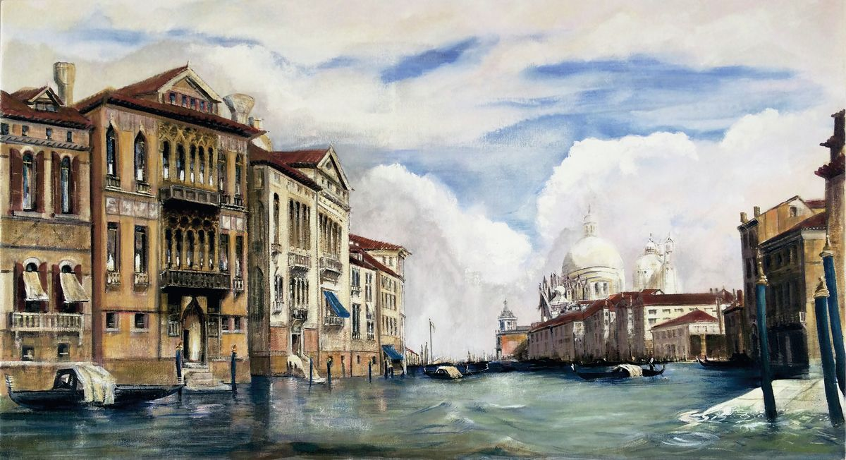 Grand canal Venice - Hanging Creations wall art giclée print art for sale