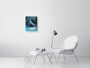 Twisted Love Abstract No.2 - Hanging Creations wall art giclée print art for sale