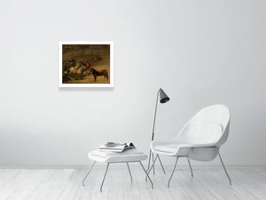 Bullfight, Suerte de Varas - Francisco José de Goya - Hanging Creations wall art giclée print art for sale