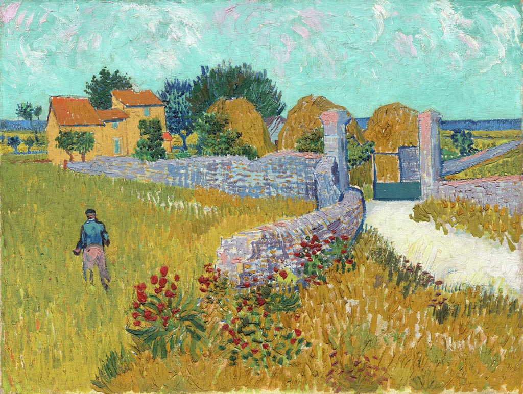 Vincent van Gogh - Farmhouse in Provence - Hanging Creations wall art giclée print art for sale