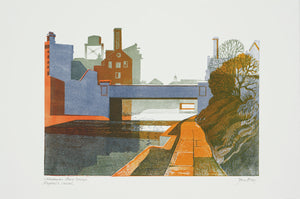 39  Caledonian Road Bridge, Regent's Canal - Hanging Creations wall art giclée print art for sale