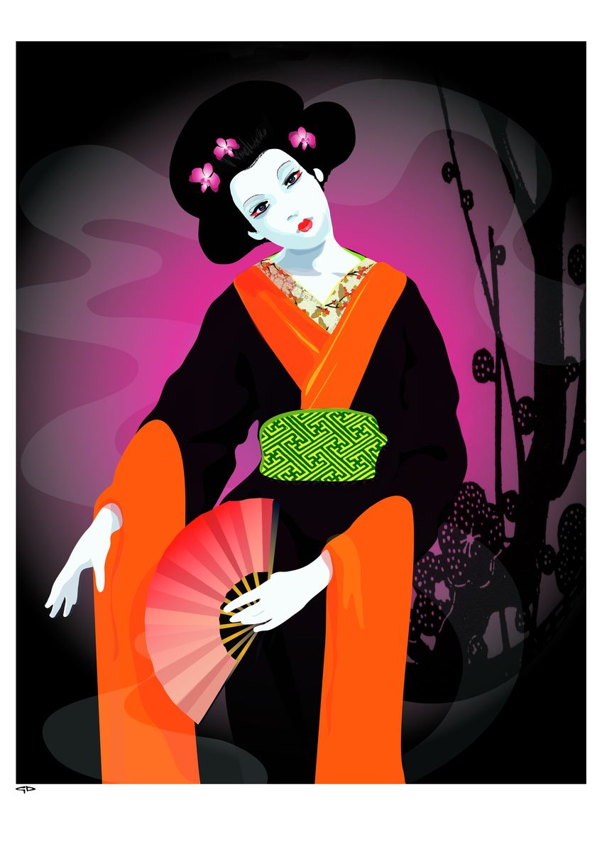 Dreams of Japan - Hanging Creations wall art giclée print art for sale