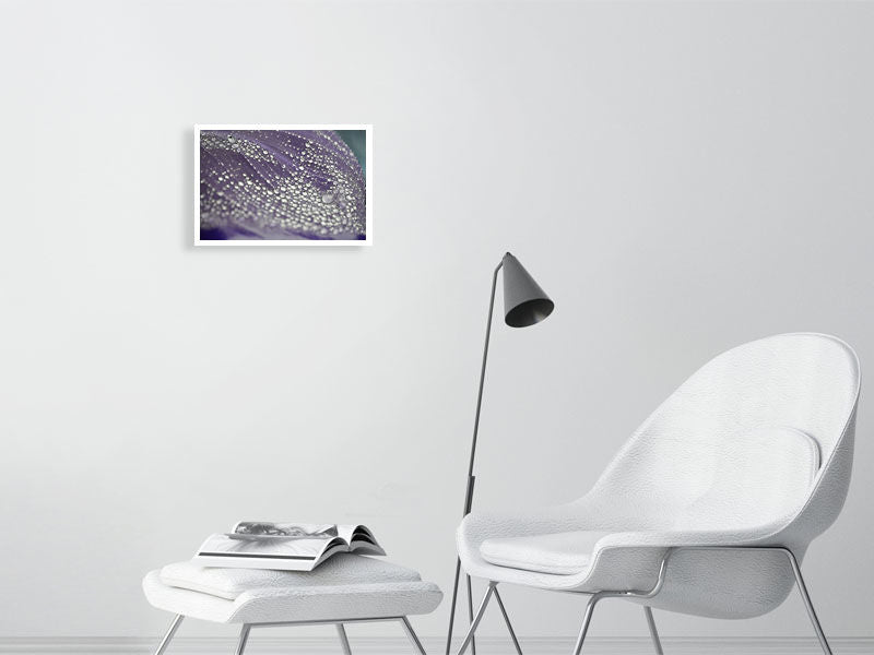 Energy Drops (Lilac Dew) - Hanging Creations wall art giclée print art for sale