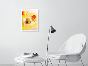 wool burger cropped final - Hanging Creations wall art giclée print art for sale
