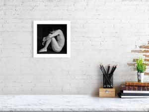 Young Man Sitting - Hanging Creations wall art giclée print art for sale