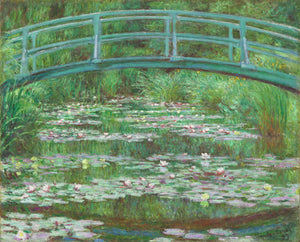Claude Monet - The Japanese Footbridge - Hanging Creations wall art giclée print art for sale