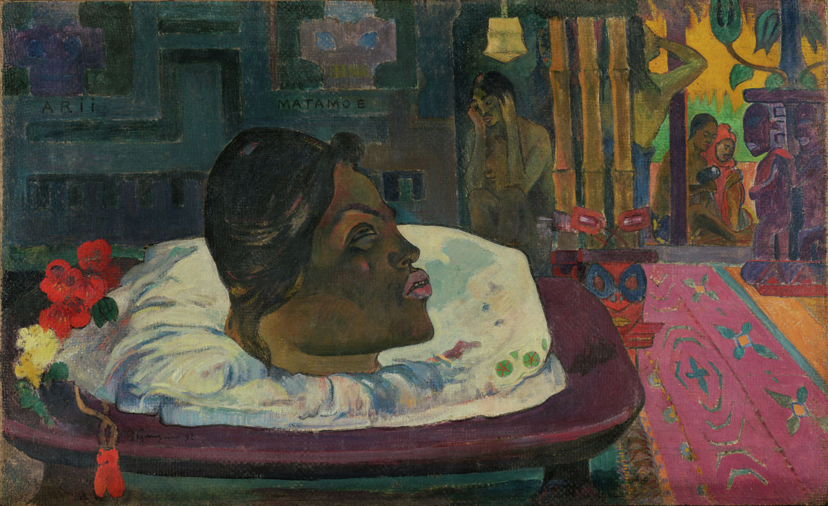 Arii Matamoe (The Royal End) - Paul Gauguin - Hanging Creations wall art giclée print art for sale