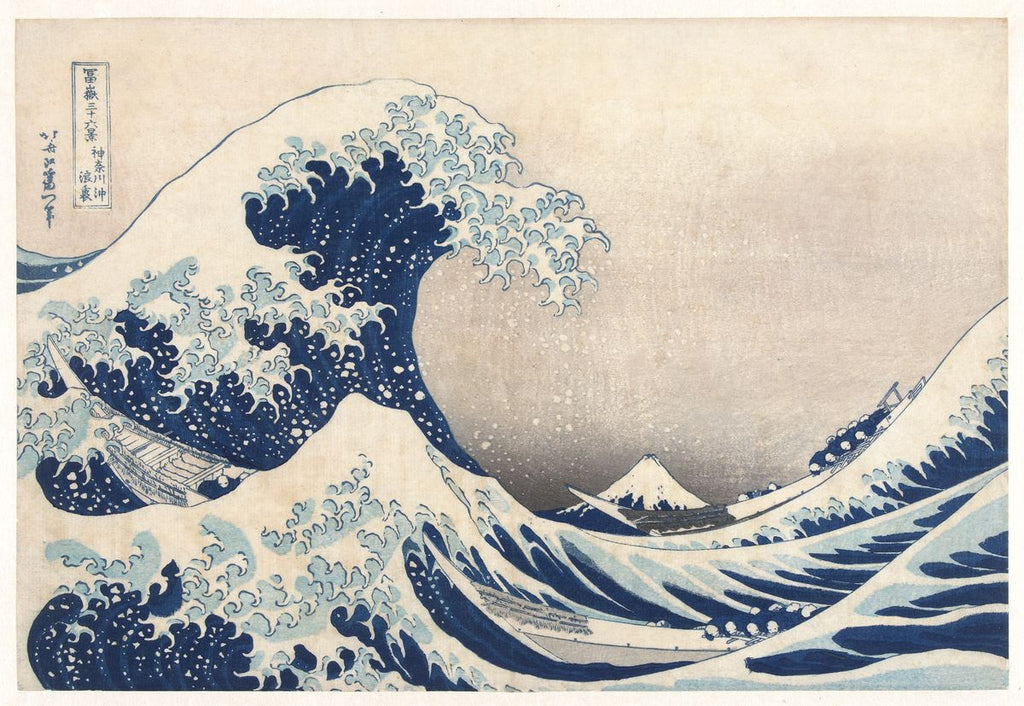 The Great Wave off Kanagawa - Katsushika Hokusai - Hanging Creations wall art giclée print art for sale