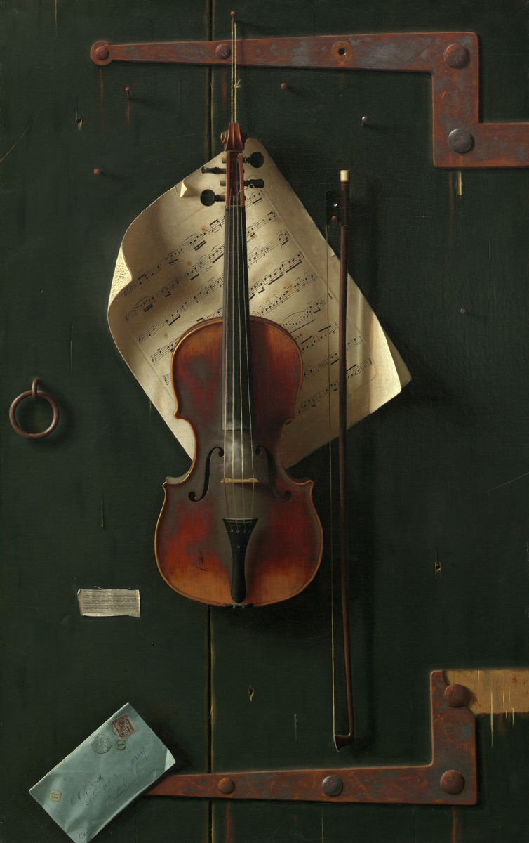 William Michael Harnett - The Old Violin - Hanging Creations wall art giclée print art for sale