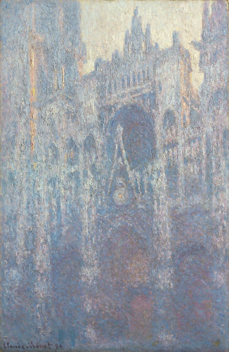 The Portal of Rouen Cathedral in Morning Light - Claude Monet - Hanging Creations wall art giclée print art for sale