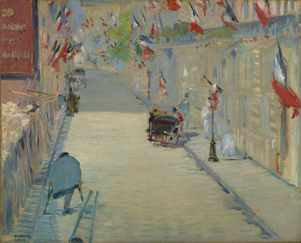 The Rue Mosnier with Flags - √âdouard Manet - Hanging Creations wall art giclée print art for sale