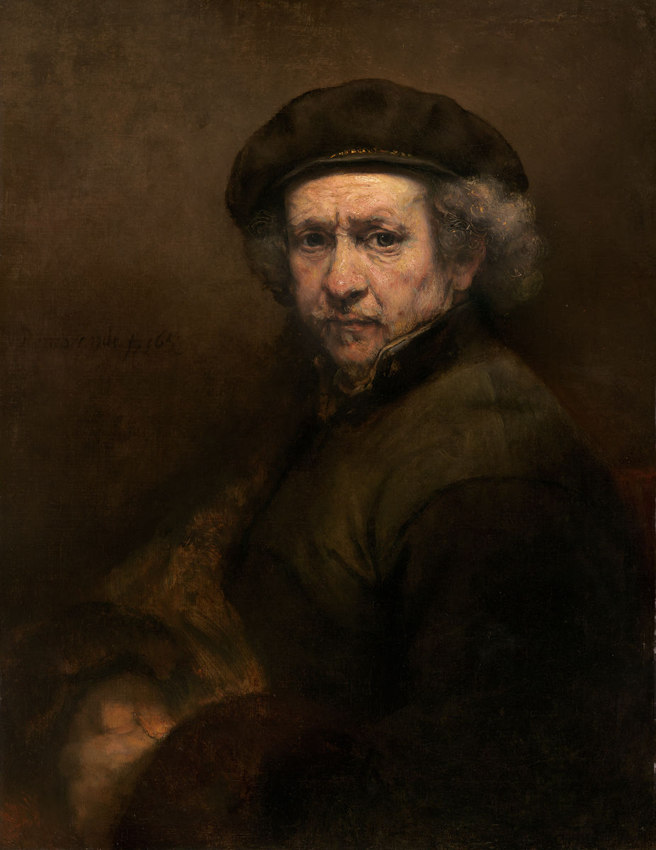 Rembrandt van Rijn - Self-Portrait - Hanging Creations wall art giclée print art for sale