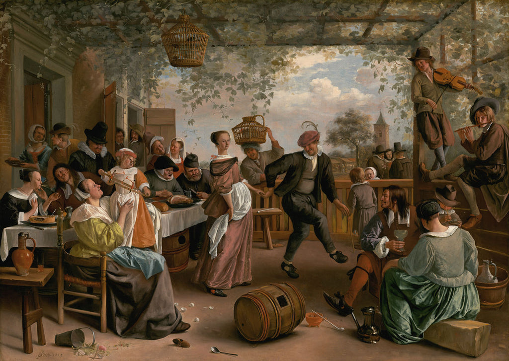 Jan Steen - The Dancing Couple - Hanging Creations wall art giclée print art for sale