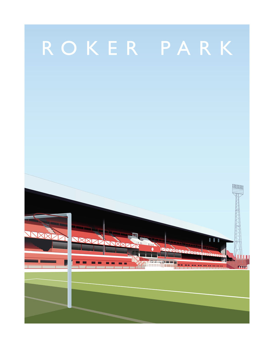 Roker Park - Hanging Creations wall art giclée print art for sale
