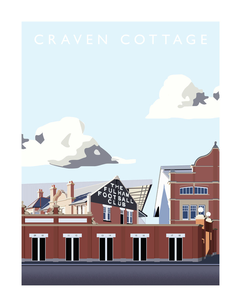 Craven Cottage - Hanging Creations wall art giclée print art for sale