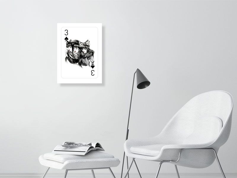 threeofspade - Hanging Creations wall art giclée print art for sale