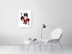 tenofhearts - Hanging Creations wall art giclée print art for sale