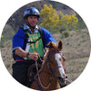 Endurance horse rider Calm Support