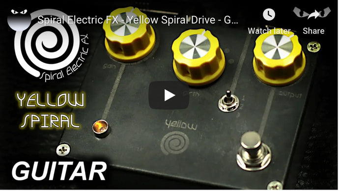 Mr. Excane Yellow Spiral Drive w/Guitar