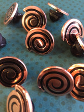 Load image into Gallery viewer, Copper Spiral Pin