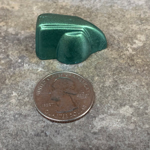 Deco-Wedge Knob with Set Screw - Metallic Green
